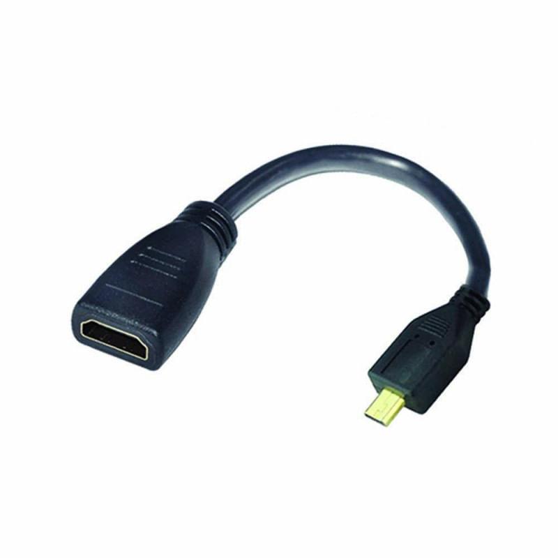 Adaptador Micro HDMI macho para HDMI femea  ARG-CB-0054 Preto  Argom