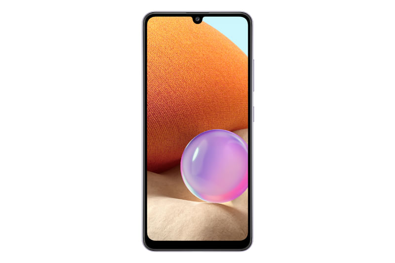 "Smartphone Galaxy A32 Dual 4G Android 11 128GB Cam 64MP+8MP+5MP+2MP+ Camera Frontal 20MP Octa-Core Tela Infinita 6.4"" Violeta Samsung"