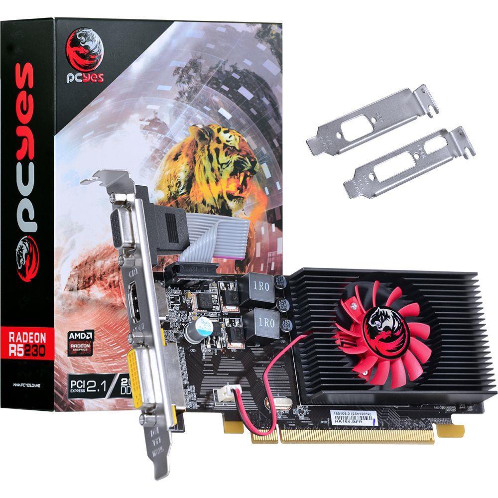 Placa De Video Radeon 2GB GDDR3 R5 230 PcYes
