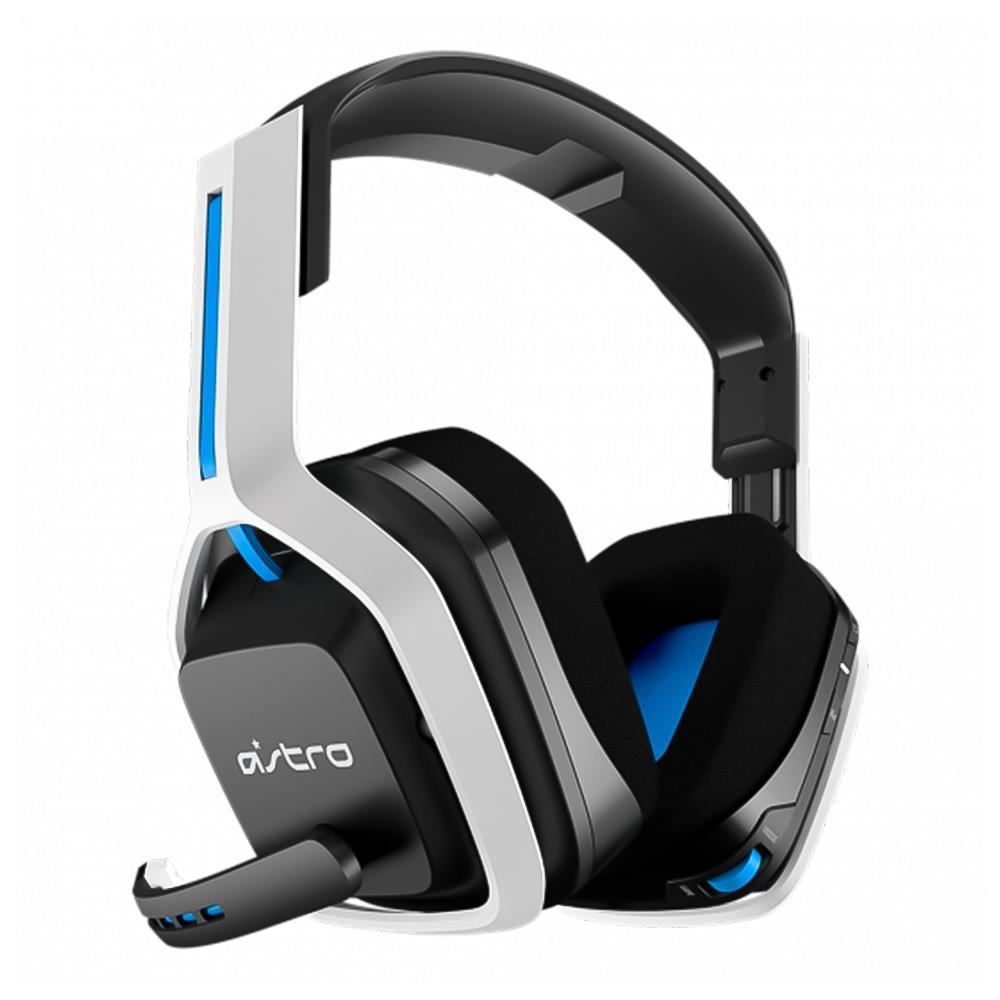Headset Gamer sem fio A20 para PS5 Cinza e Azul Branco/Azul - Astro Gaming