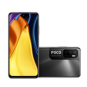 """Smartphone Poco M3 Pro 5G Android  10 128GB Cam 48MP+2MP+2MP Cam Frontal 8MP Octa-Core Tela 6,5"""" Preto Xiaomi"""