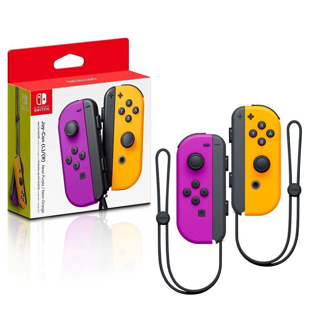 Acessorio para Nintendo Switch Joy-Con Direita/Esquerda Roxo e Laranja - Nintendo