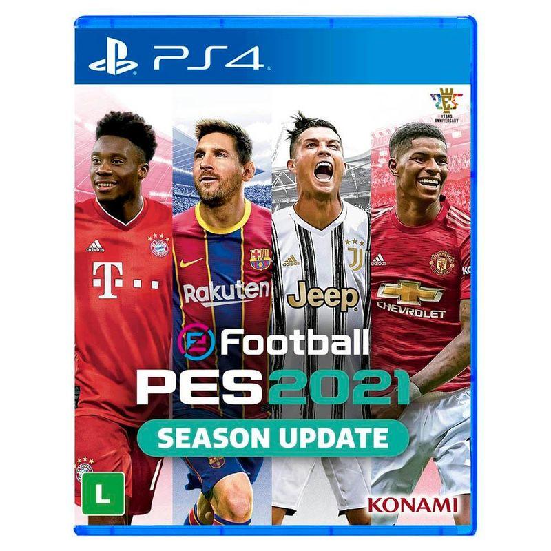 Jogo para  PS4 Pro  Evolution Soccer  Efootball  2021 - Konami