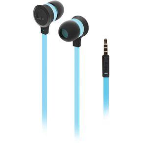 Fone de Ouvido Intra Auricular Neon Sound Azul e Preto iLuv