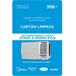Servico de Limpeza para Ar Condicionado de Janela de 27000 a 30000BTUS Midea